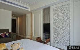 家庭设计室内卧室隔断欣赏
