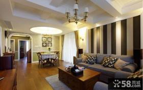 美式风格家居客厅装修