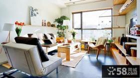 田园混搭风格复式楼客厅装修图片