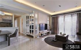 现代温馨三室家装设计效果图