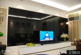 现代简约风格客厅电视背景墙效果图欣赏