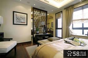 古典中式卧室隔断家居设计装修效果图大全