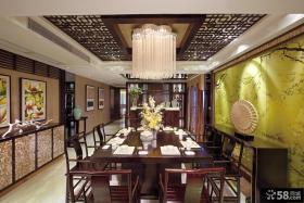 古典中式风格餐厅吊顶效果图