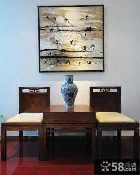 中式客厅墙面抽象装饰画图片