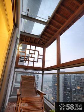 中式阳台装修效果图