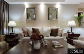 现代美式客厅装饰画效果图