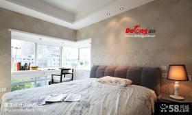 现代简约格卧室背景墙设计图片