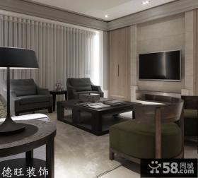 简约风格客厅瓷砖电视背景墙效果图