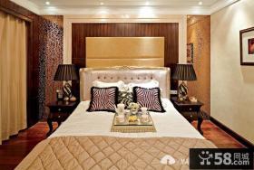 欧式风格卧室床头背景墙装修效果图大全2014图片