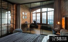 复古欧式风格卧室隔断设计效果图
