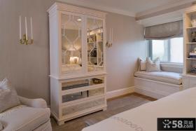 欧式卧室衣柜玻璃门图片欣赏