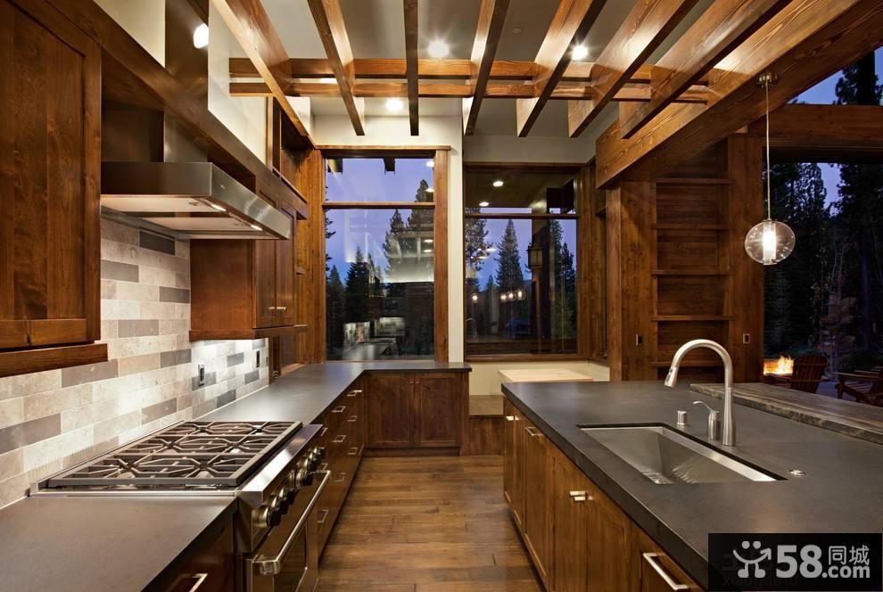 美式风格厨房吊顶装修效果图欣赏