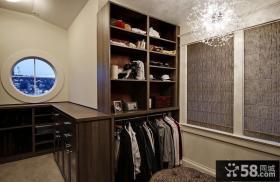 庄重豪华的现代美式风格衣帽间装修效果图大全2012图片