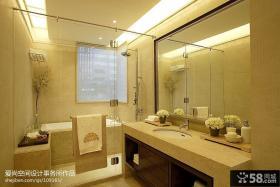 现代风格卧室卫生间浴室一体装修效果图