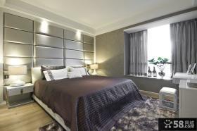 现代风格二居卧室床头背景墙效果图