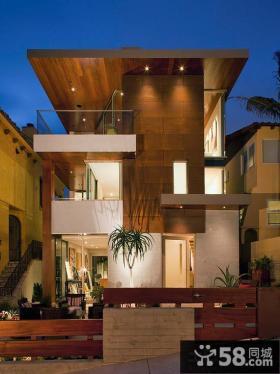 现代别墅错层阳台效果图