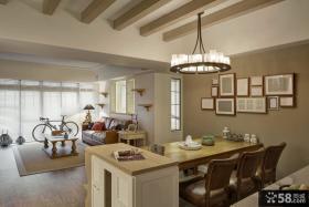 现代美式风格厨房吊顶装修效果图