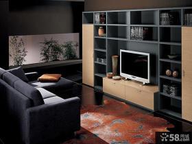 现代小户型室内电视背景墙图片大全