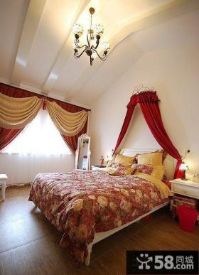 别墅装饰婚房卧室效果图