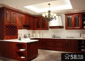 中式家庭设计厨房橱柜图片欣赏