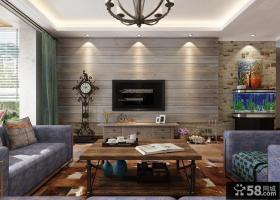 美式乡村风格家居客厅装修效果图片