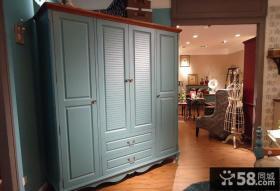 美式乡村风格室内衣柜设计图片