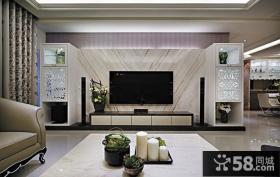 简欧设计客厅电视背景墙图片大全