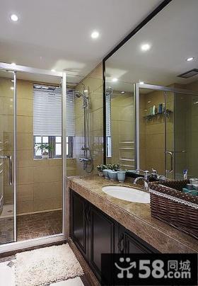 现代美式装修卫生间设计