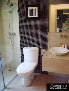 小户型卫生间马赛克瓷砖背景墙图片