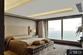 欧式古典家庭大窗户卧室装修