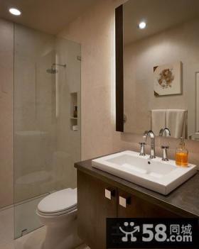 温馨豪华大气的现代风格装修效果图卫生间图片
