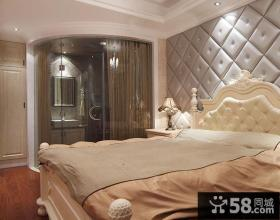 欧式主卧室软包背景墙效果图
