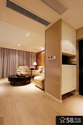 简约两室两厅客厅玄关鞋柜效果图