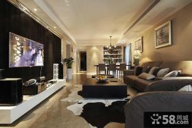 优质现代客厅电视背景墙装修设计图