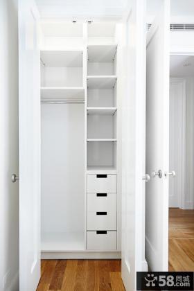 白色家装衣柜整体展示