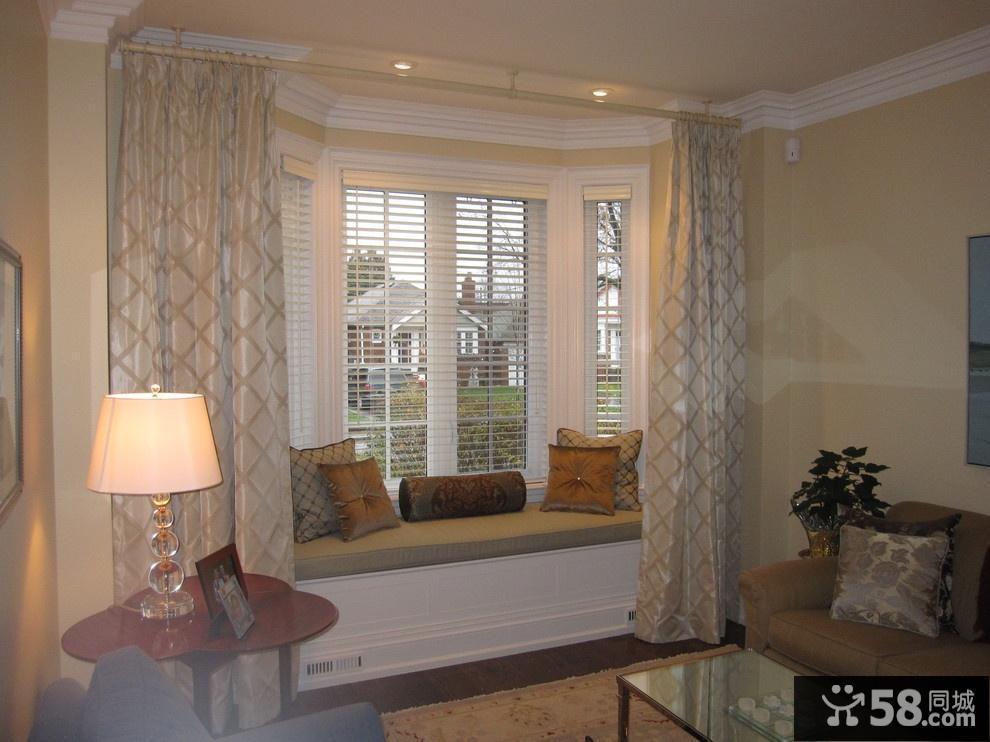 客厅飘窗窗帘装修效果图_1.
