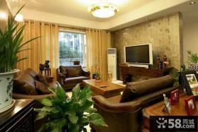 美式风格客厅壁纸电视背景墙效果图片