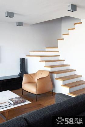 简约小复式楼梯装修效果图