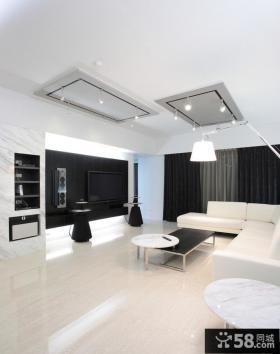 极简风格客厅电视背景墙效果图大全