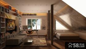 地中海风格书房装修效果图大全2014图片