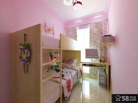 田园风格儿童房上下铺床装修设计