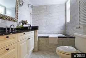 简约美式公寓卫生间设计效果图