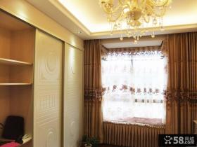 欧式卧室高档窗帘图片欣赏