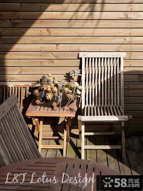 木制阳台墙面装修效果图