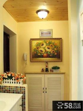 玄关墙挂画装饰效果图