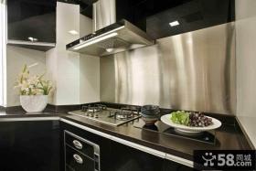 现代风格厨房不锈钢台面设计