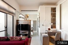 简约风格设计小客厅电视背景墙欣赏