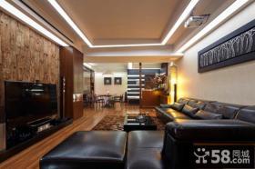 现代美式装修设计客厅电视背景墙效果图