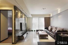 宜家装修设计时尚客厅电视背景墙效果图2014