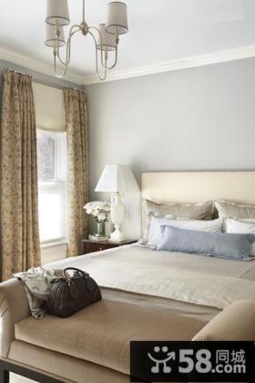 简约卧室窗帘装修效果图欣赏